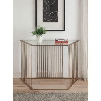 Oaklie Champagne Sofa Table