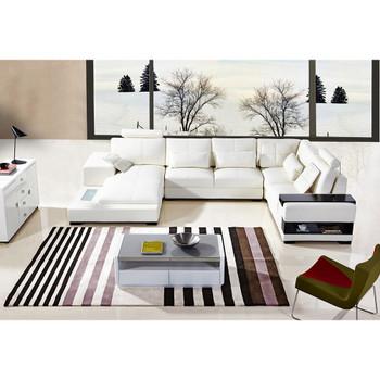 Divani Casa Diamond Modern Bonded White Leather Sectional Sofa