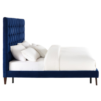 Eden Velvet Upholstered Bed