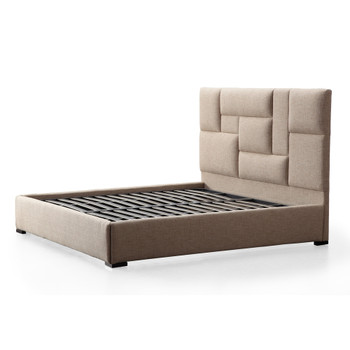 Connor Beige Upholstered Bed