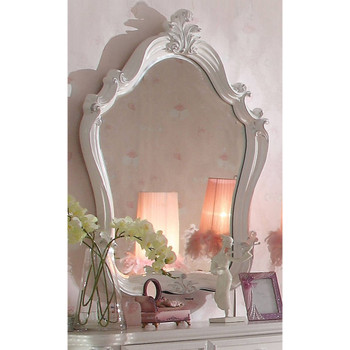 Versailles Antique White Bedroom Mirror