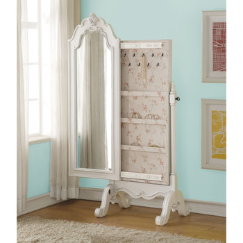 Edalene Pearl White Jewelry Armoire