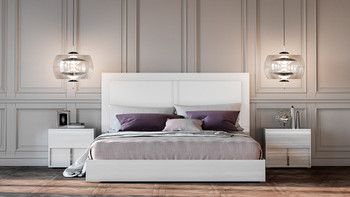 Modrest Nicla Italian Modern White Bed
