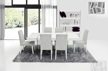 Modrest Aura Modern White Dining Chair