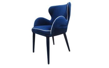 Modrest Tigard Modern Blue Fabric Dining Chair