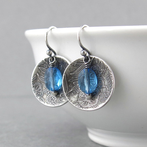 Contrast Earrings Aquamarine