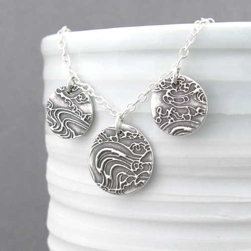 Serenity Necklace - Sterling Silver Three Circle Necklace