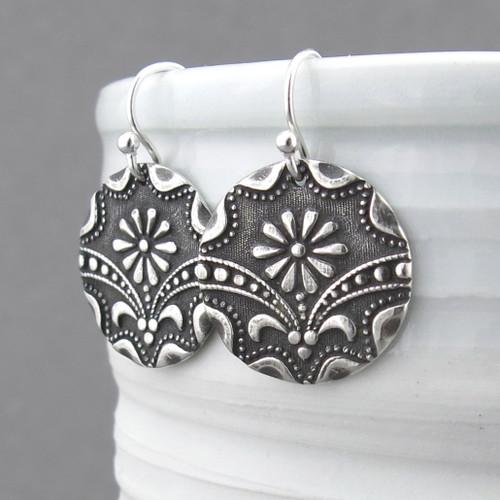 Art Deco Daisy Earrings