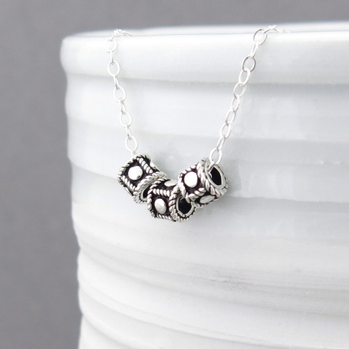 Flat Dot Bead Necklace