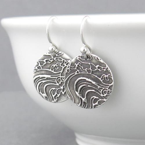 Turbulent Water Earrings - Unique Petite