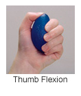 finger exercise equipment for thumb flexion