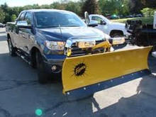 SD Snow plow on Toyota Tundra
