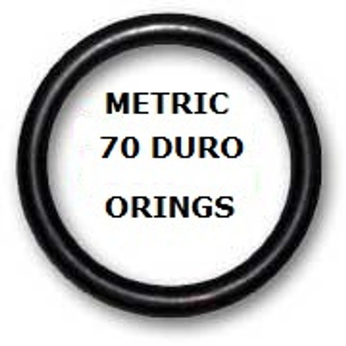 Metric Buna  O-rings 5 x 1.25mm Price for 50 pcs