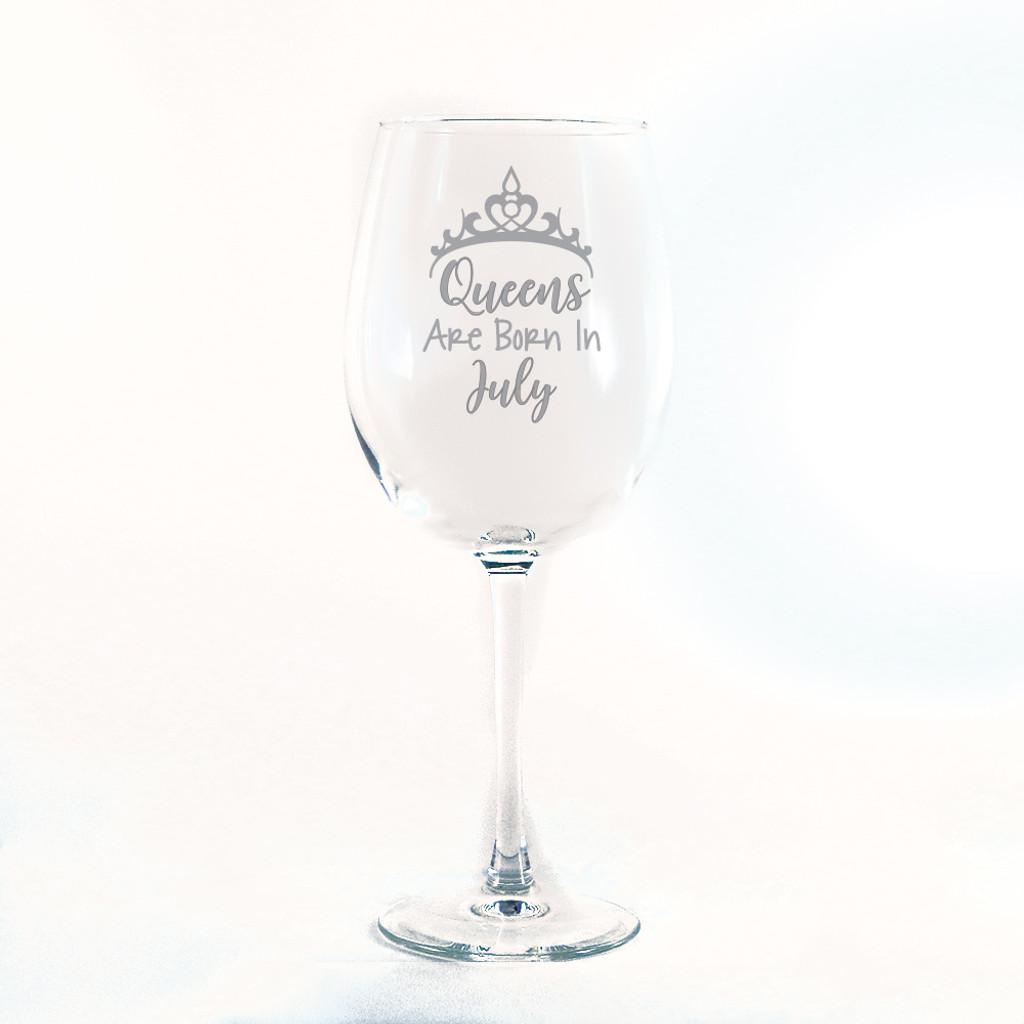 Birthday Queen Wine Glass