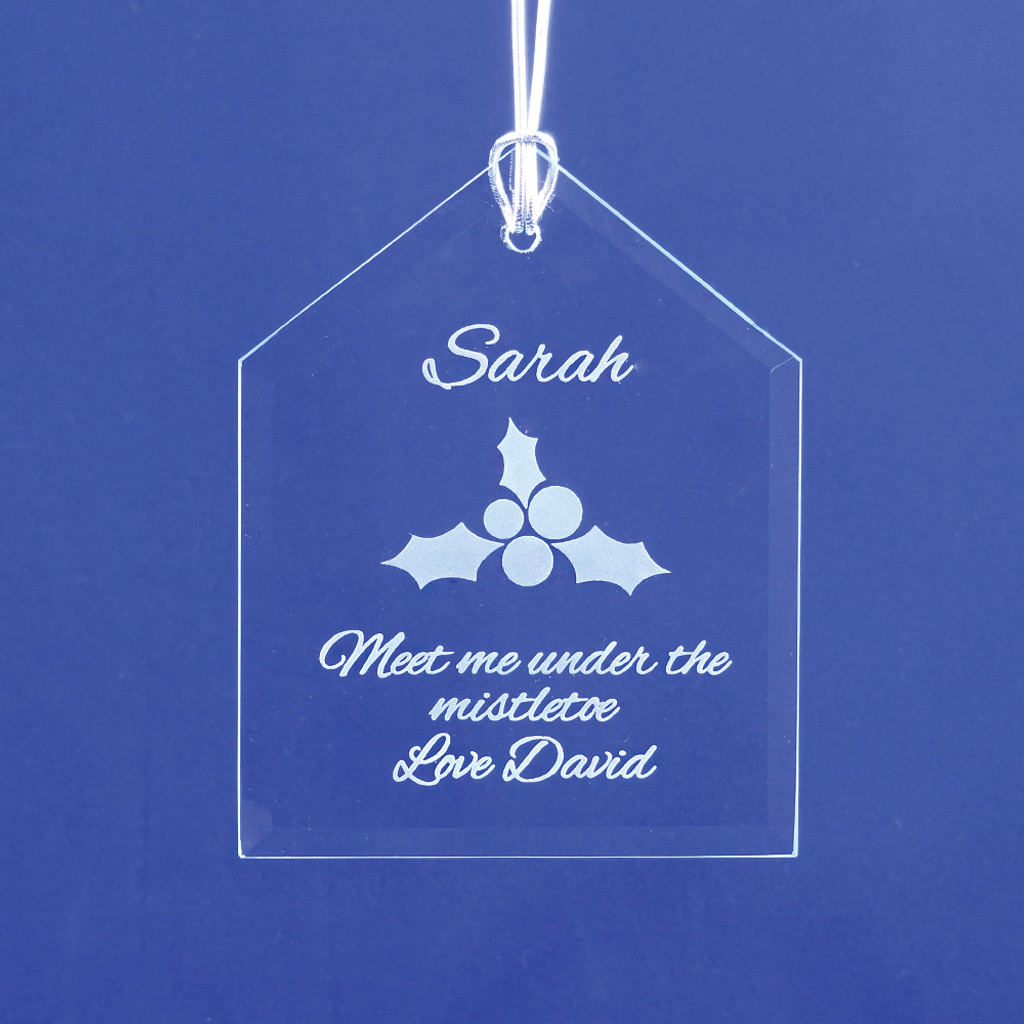 Personalized Christmas House Ornament