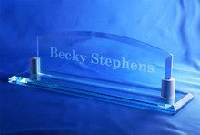 Personalized Crystal Desk Nameplate