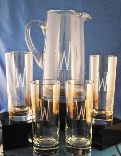 Monogrammed Cantina Drink Set, 5-Pieces