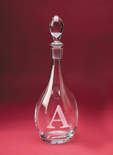 Monogrammed Bordeaux Crystal Wine Decanter