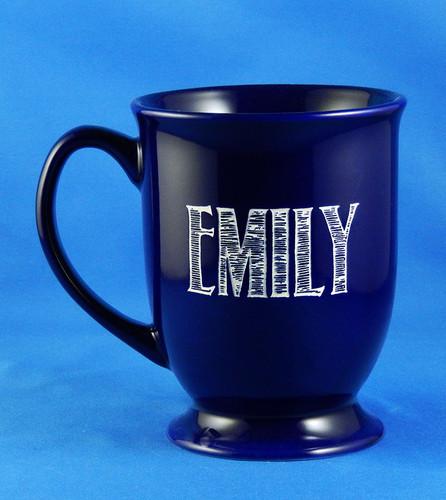 Personalized Blue Java Coffee Mug