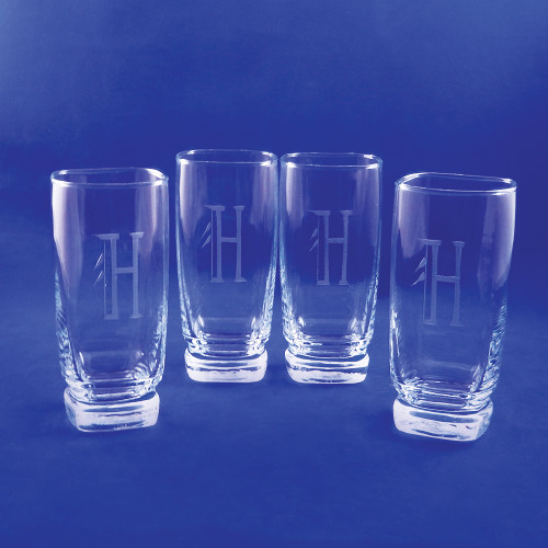 Personalized Retro Sterling Glasses, Set of 4