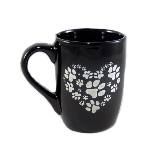 Paw Print Heart Coffee Mug