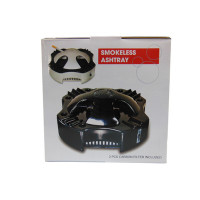 SMOKELESS ASHTRAY BLACK & WHITE