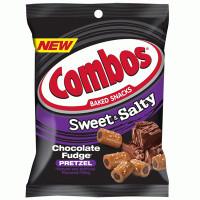 COMBOS LARGE CHOCOLATE FUDGE PRETZELS