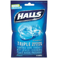 HALLS BAG ICE PEPPERMINT