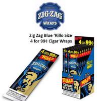 ZIG ZAG 'RILLO CIGAR WRAP BLUEBERRY 4@99