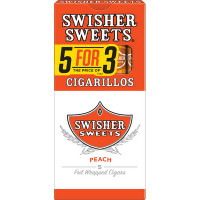 SWISHER CIG PEACH 5 FOR 3