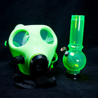 GLOW-IN-THE-DARK RUBBER GAS MASK