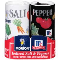 MORTON SALT & PEPPER SHAKER COMBO