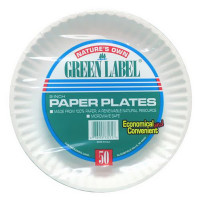 "PAPER PLATES 9"" HCS 12"