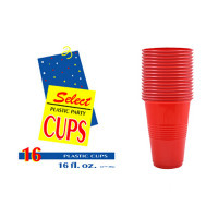 PLASTIC CUPS 16oz RED SLEEVE