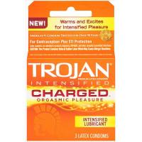 TROJAN CHARGED(orange) 3PK