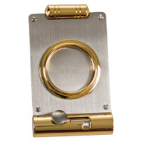 CIGAR CUTTER&PUNCH SLVR/BRASS