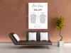 Personalised Wedding Vows Print (Leaves)