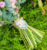 """Bouquet Charm (Oval w/ """"You are always in my heart"""" charm)"""