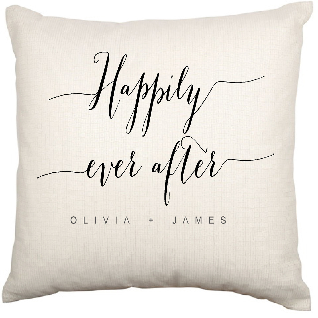 personalised couples cushion cover (happily ever after)  heavenly  - personalised couples cushion cover (happily ever after)