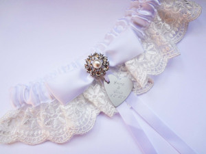 Personalised Garter - Chloe design