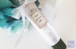 Bouquet Charm - DIY Rhinestones Blank (Silver) - Jamie Design