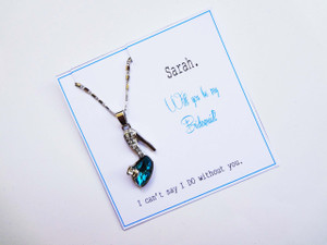 Shoe Necklace - Asking Bridesmaids/Maid of Honours