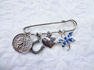 Bridal Charm Pin (with Blue dragonfly)