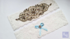 Personalised Garter Set- Margaret design