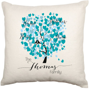 Personalised Cushion Cover (Family Tree)