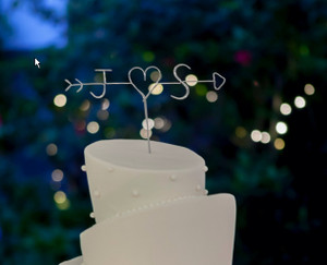 Personalised Cake Topper - Arrow - Bree Design