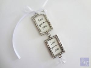 Bouquet Charm- Double DIY Rhinestones Blank (Silver) - Jamison Design