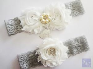Personalised Garter Set - Martine design