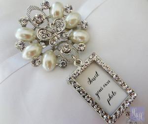 Bouquet Charm/Brooch - DIY Rhinestones & Pearls - Evelyn Design