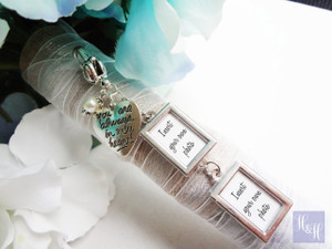 Bouquet Charm - DIY Double Blank w/text- Daisy Design